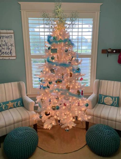 White Coastal Beach Christmas Tree