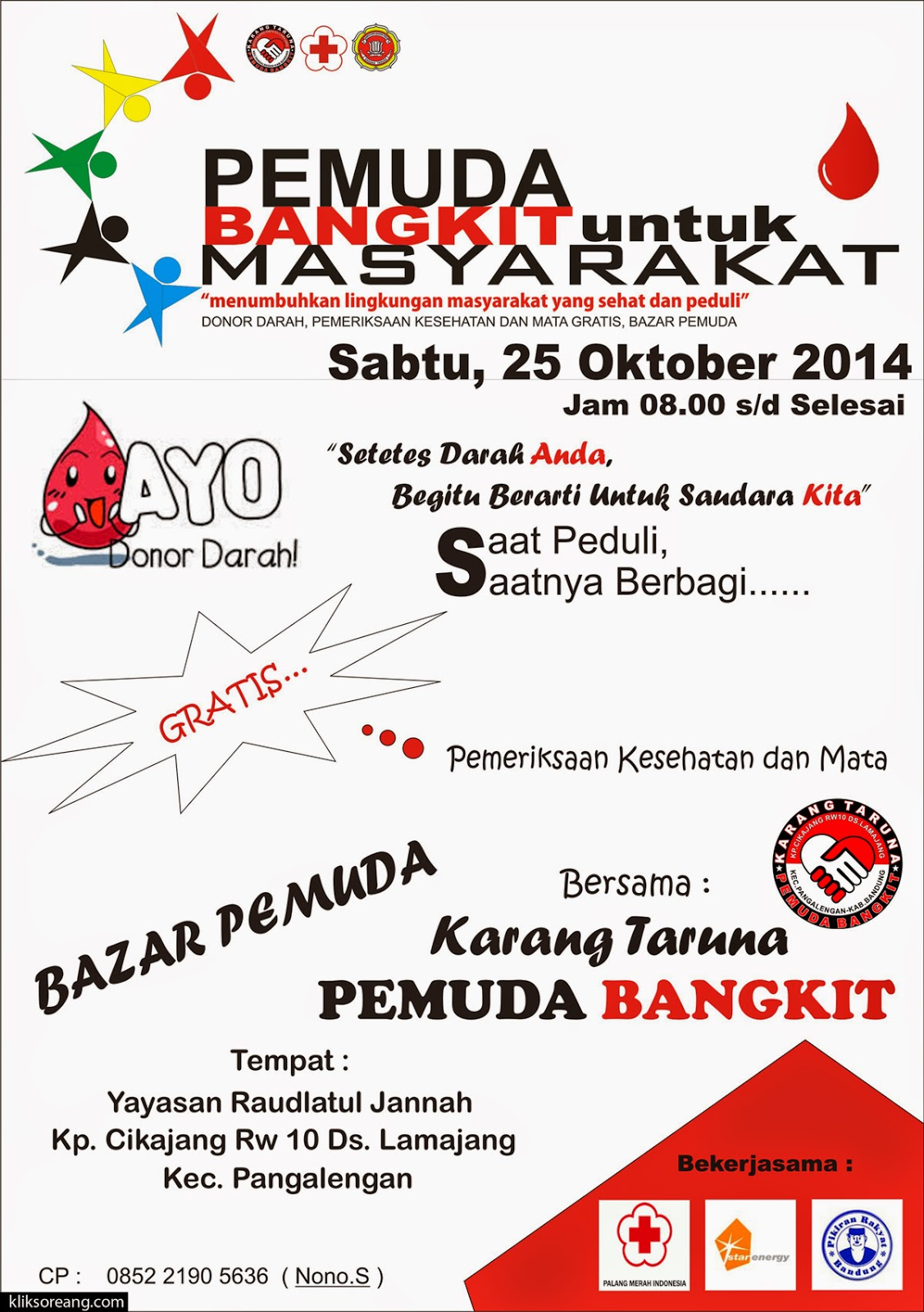 Donor Darah Pemuda Bangkit untuk Masyarakat