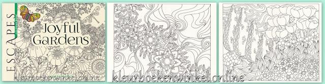 kleurboek joyful gardens