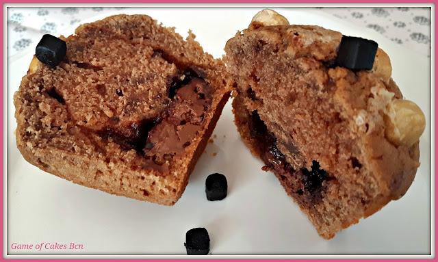Muffins de Nocilla y Avellanas rellenos