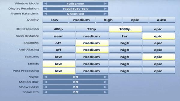 متطلبات تشغيل لعبة فورت نايت على الكمبيوتر fortnite  ضبط الإعدادات للحصول على أفضل أداء
