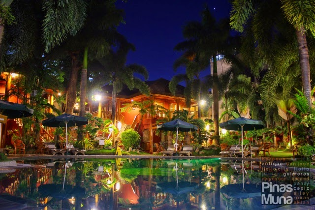 Boracay Tropics pool at night