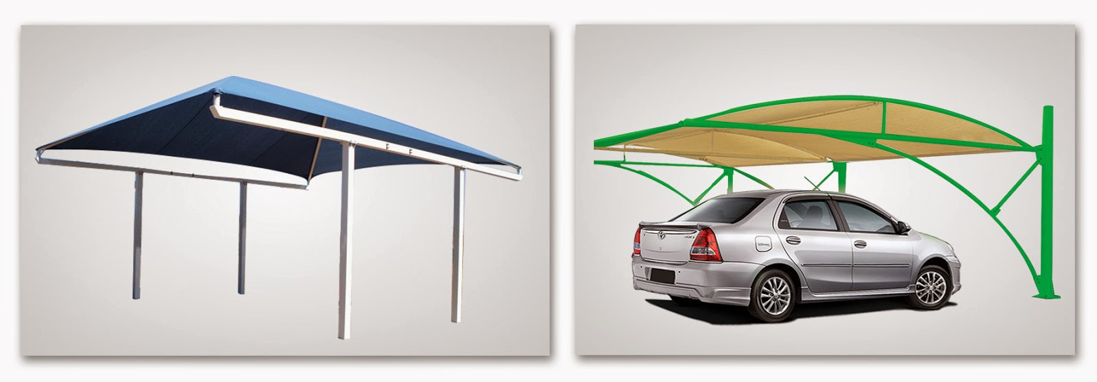 Creative Car Parking Shades Manufacturing And Installation 2014