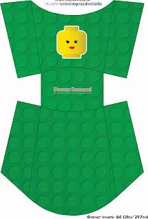 Lego Party Free Printable Fries Boxes.
