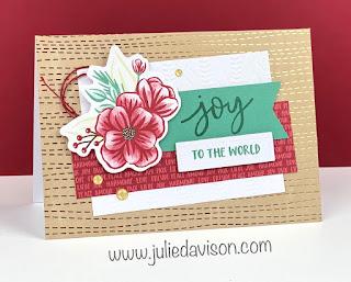 12 October 2020 Paper Pumpkin: Joy to the World Christmas Card Alternative Projects #paperpumpkin www.juliedavison.com
