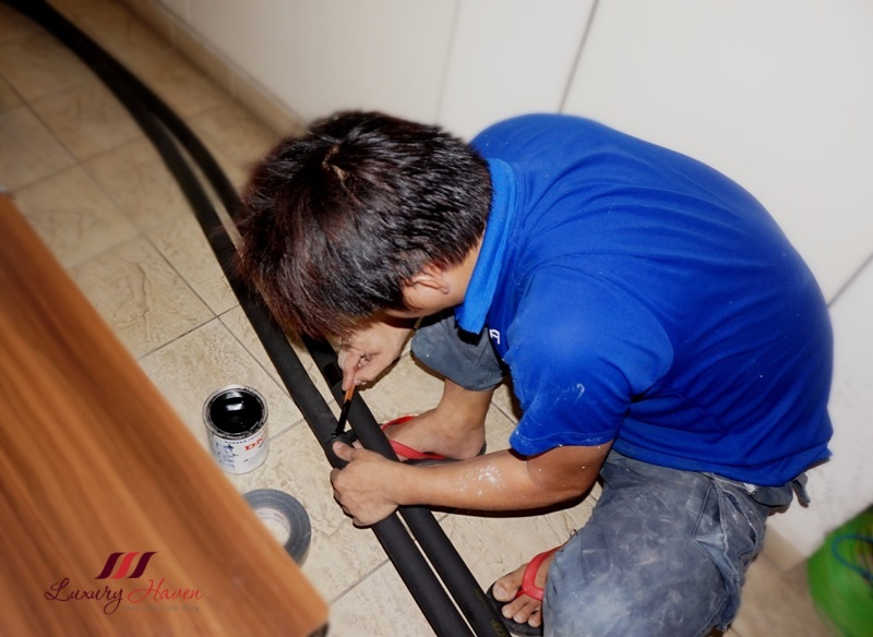 air connection design aircon piping review