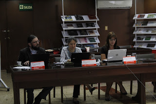 Foto: pares académicos, Natalia Gaviria Gómez, Sandra María López Muriel y Álvaro David Orjuela Cañón