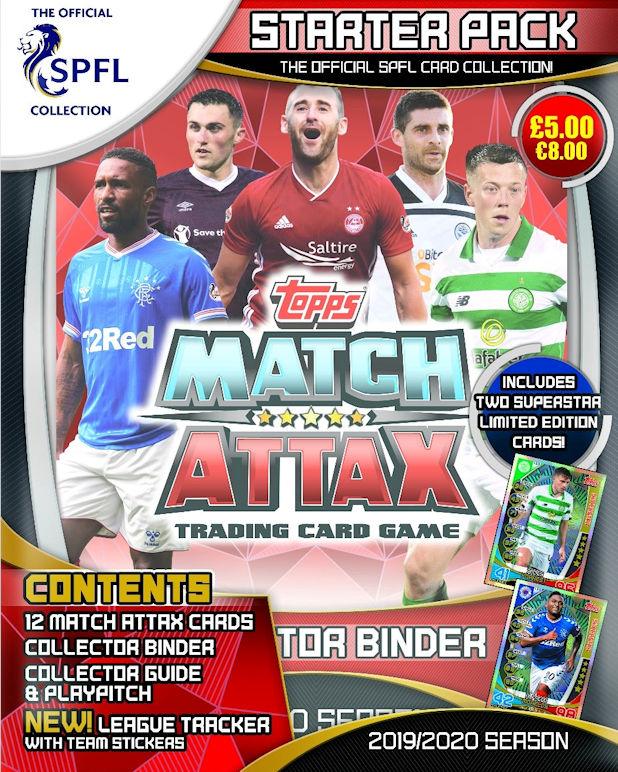 Topps Match Attax 2019//20 SPFL Premier Man of match Baller Star Signature 100 club