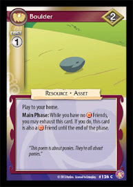 My Little Pony Boulder Absolute Discord CCG Card