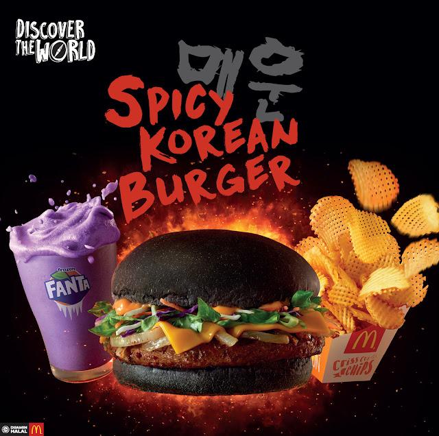 Tak pedas mana pun korean burger Mcdonald's