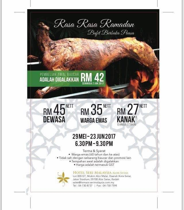 buffet ramadhan hotel seri malaysia alor setar