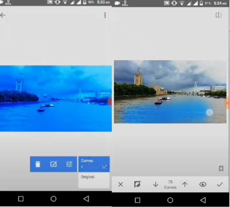 Replace Color In Snapseed