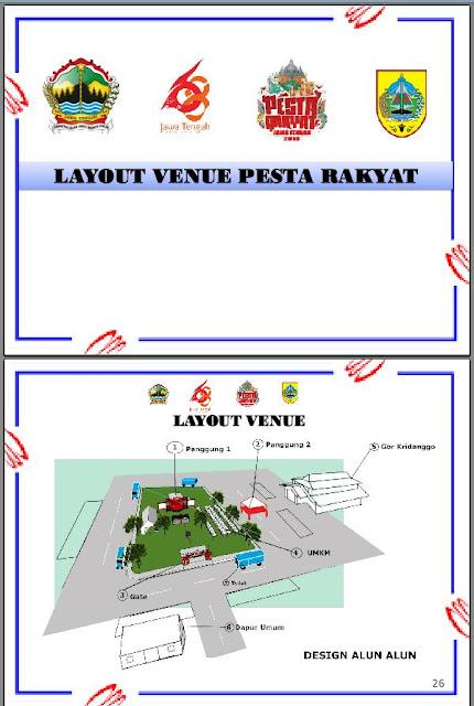 Layout Venue Pesta Rakyat Jateng 2018 Pemalang