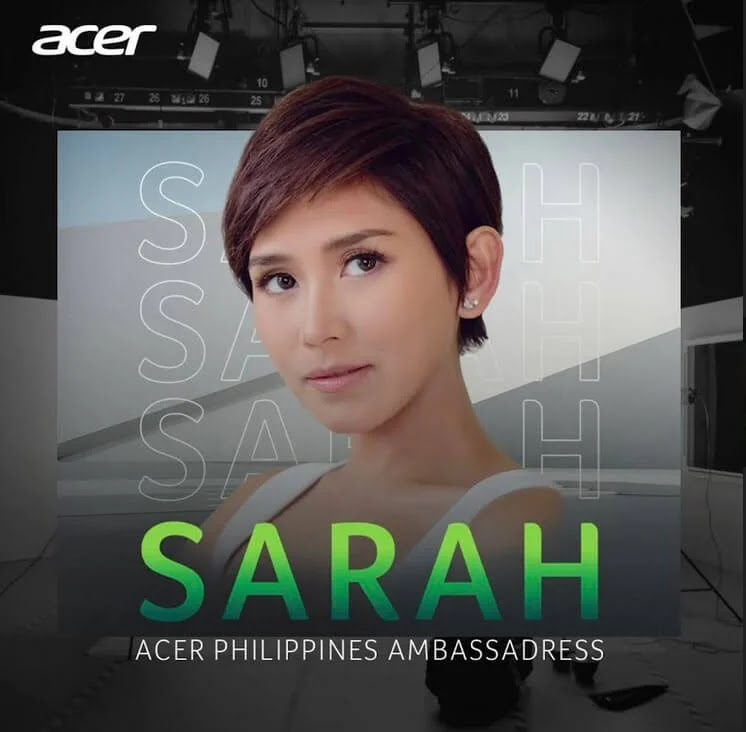 Popstar Royalty Sarah Geronimo is the newest addition to the Acer family!