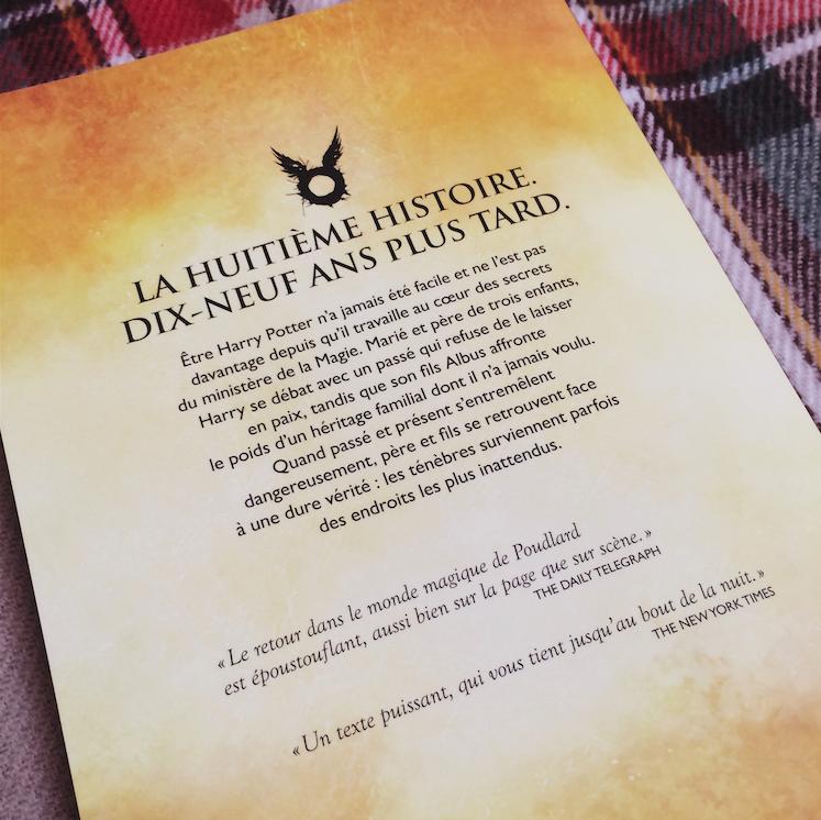 Harry Potter et L'Enfant Maudit résumé synopsis