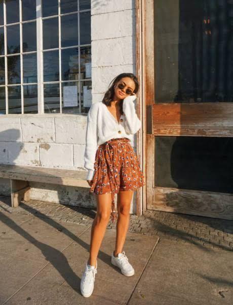 Outfit tumblr con falda
