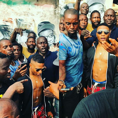Photo of WizKid at Ojuelegba where hr grew up