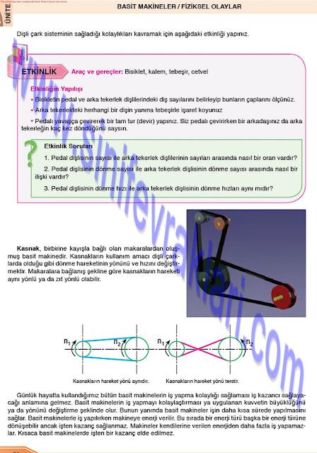 Öğün Yayınları 8. Sınıf Fen Bilimleri Ders Kitabı Cevapları Sayfa 50