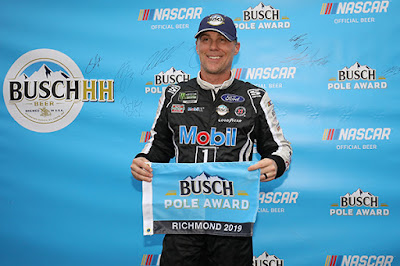 No. 4 Kevin Harvick captured the pole position at Richmond Raceway - #NASCAR