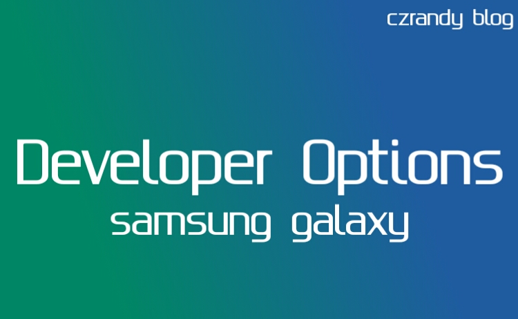 Cara Mengaktifkan Developer Options Samsung Galaxy