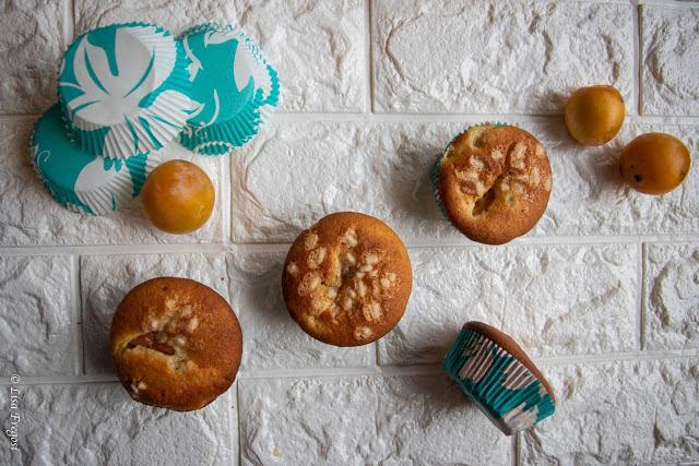 Muffin con susine gialle