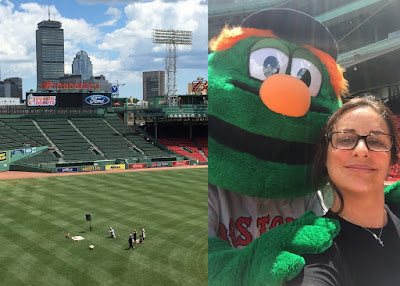 Wally and Michele Doucette pose for a photo at Fenway!