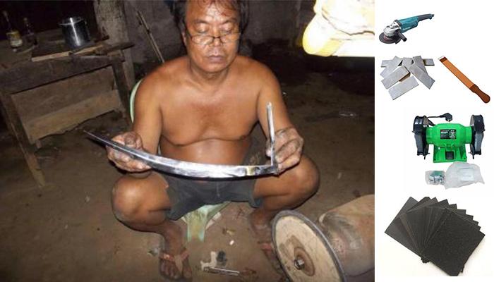 Cara Mengasah Pisau Ayam Taji (Bali, Filipina, Toraja, Bugis)