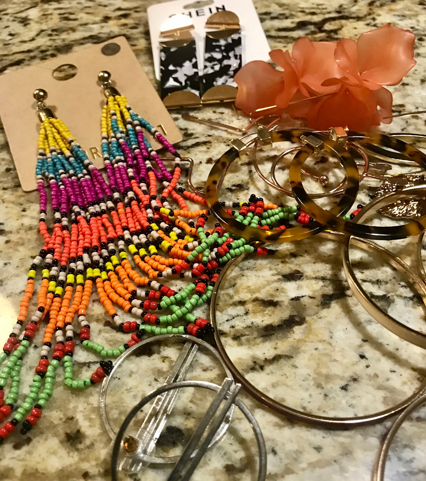 Clearing out old earrings. Morning Babbles