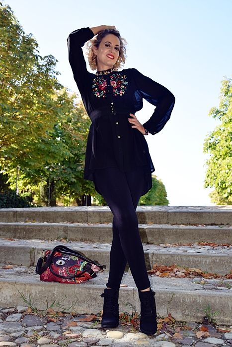 Outfit-bluson-negro-flores-8