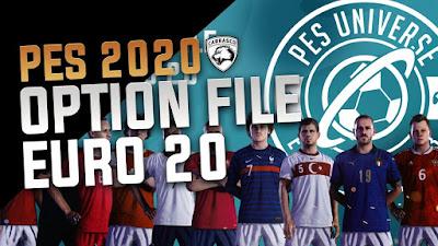 PES 2020 PS4 PESUniverse Option File EURO 2020