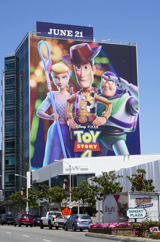 Giant Toy Story 4 movie billboard
