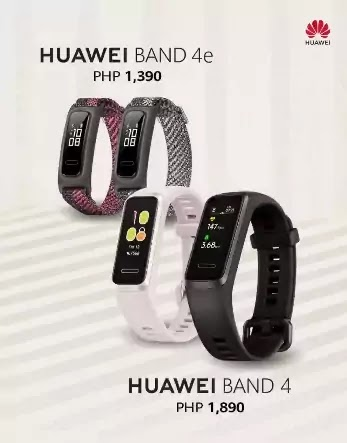 Huawei Band 4 and Band 4e