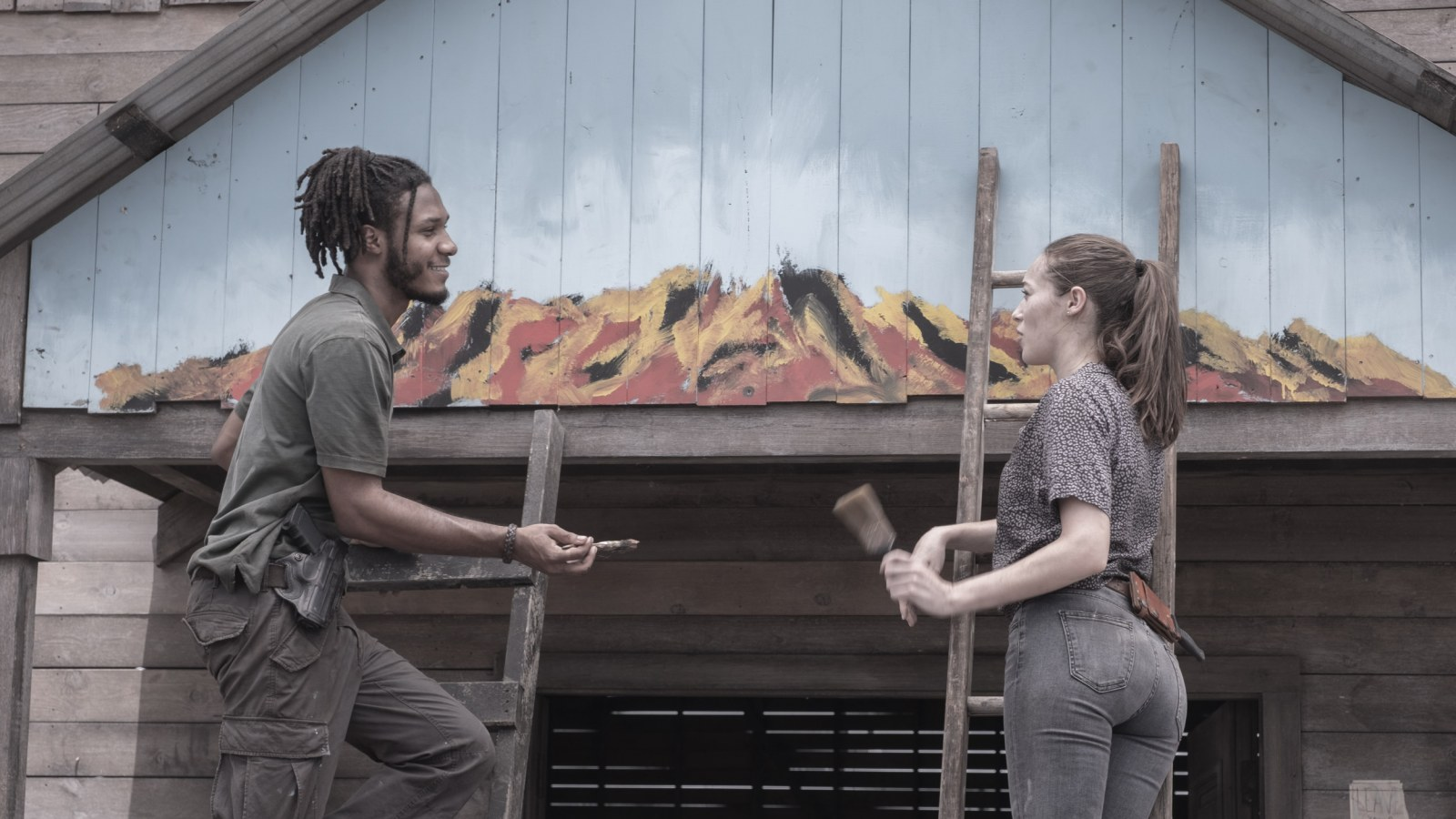 Alicia y Wes, en el episodio 5x16 de Fear The Walking Dead