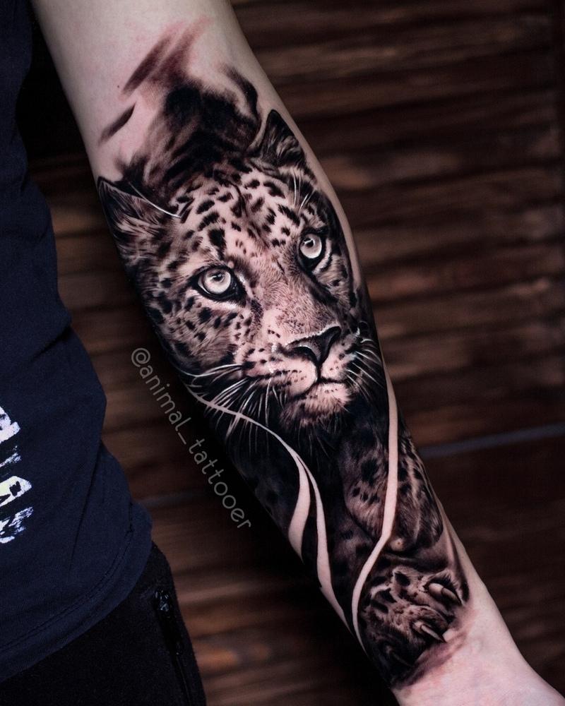 Realistic animal tattoos by Natasha Lisova