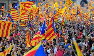 Βαρκελώνη: 1,5 εκ. διαδηλωτές στους δρόμους για την ανεξαρτησία της Καταλονίας