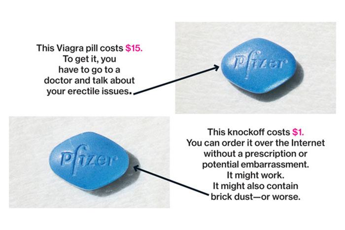 Viagra Asli dan palsu