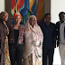 MPNAIJA GIST:Tonto Dikeh pictured with wife of Kebbi state governor after a meeting