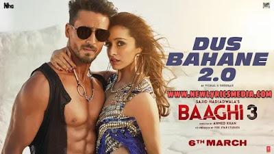 DUS BAHANE 2.0 LYRICS – BAAGHI 3 - Vishal Dadlani | Lyricstracks