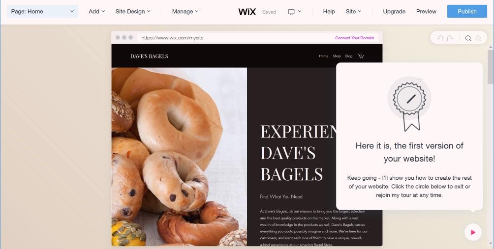 موقع wix