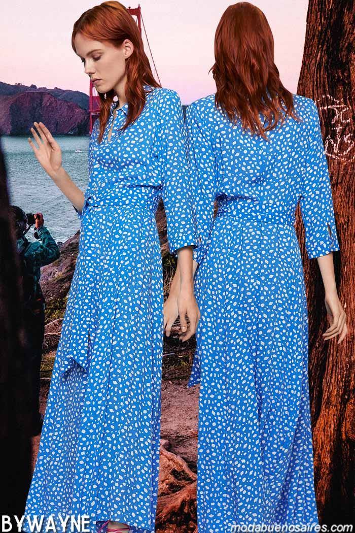 Vestidos largos primavera verano 2020. Moda primavera verano 2020 mujer.