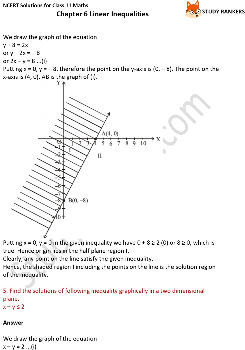 NCERT Solutions for Class 11 Maths Chapter 6 Linear Inequalities 12