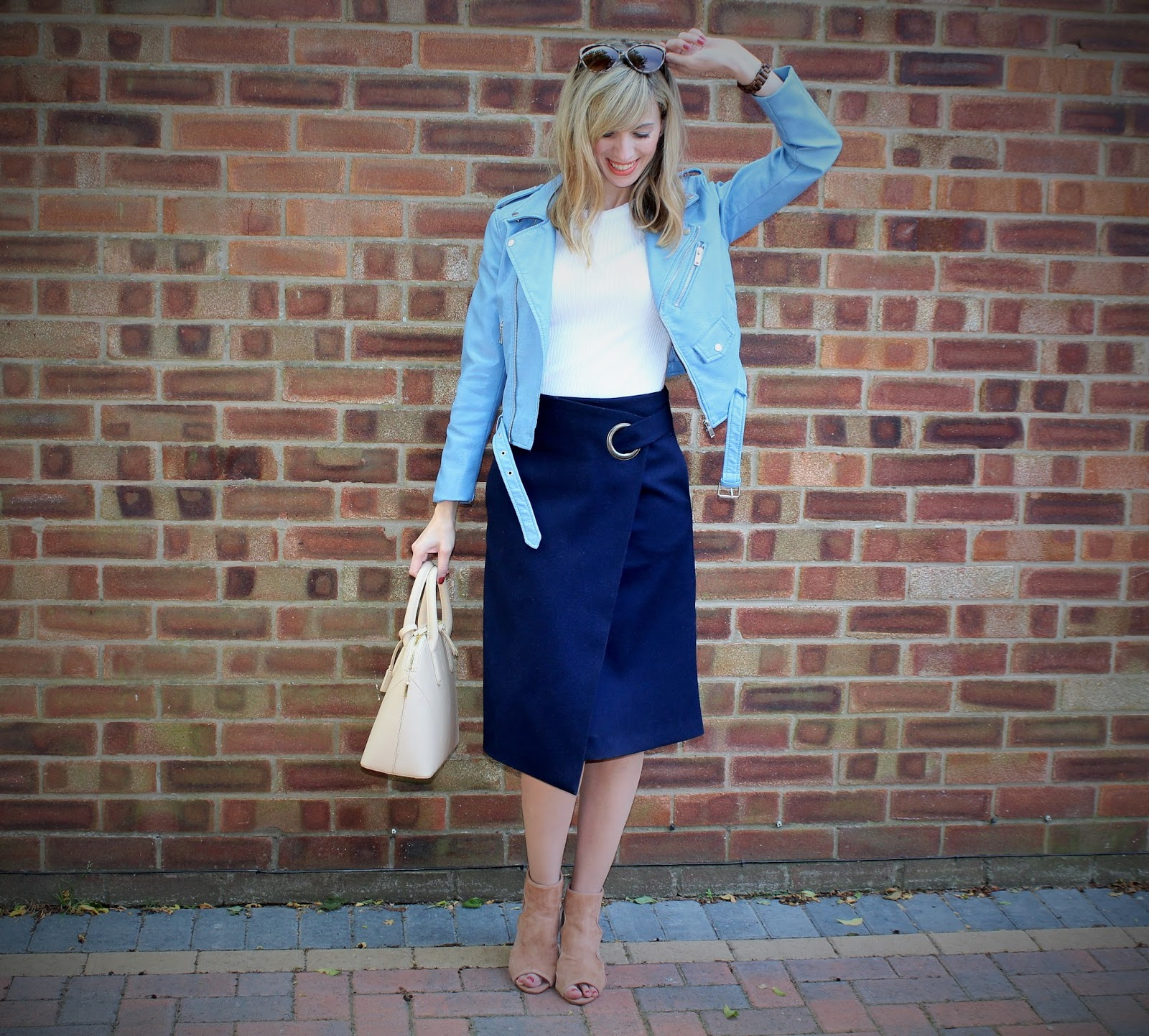 The Wrap Midi 6 - OOTD featuring Topshop skirt, River Island shoes and Zara jacket