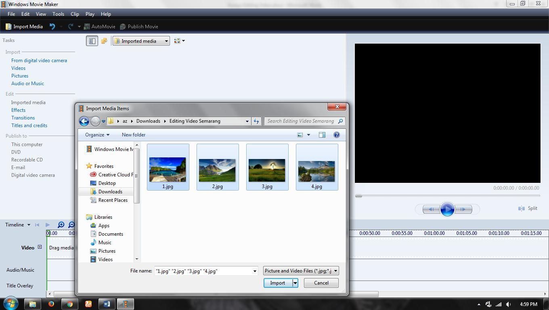 Menambahkan File ke Project Video
