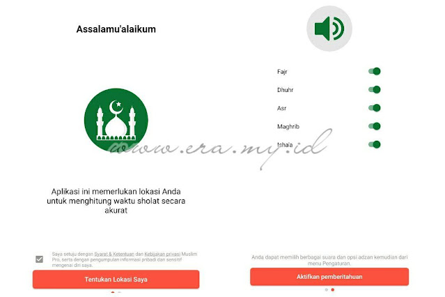 Permission Muslim Pro