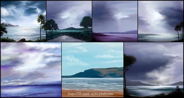 Mark Taylor, artist, new art collection, beechhouse media, landscape art,