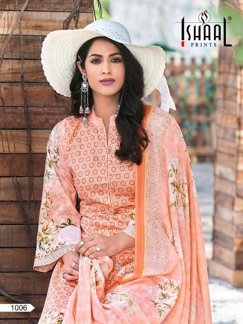 Ishaal Print Gulmohar Combo Pure Lawn pakistani Suits Catalog wholesaler