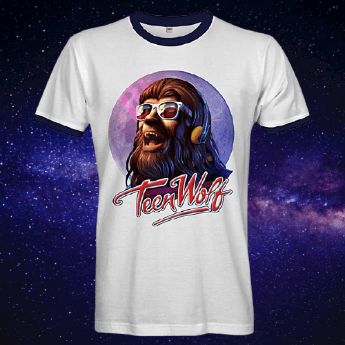AUG 18 - TEEN WOLF T-SHIRTS. Pay homage to the 1985 Michael J. Fox movie.
