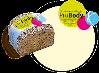 Chleb ProBody- obniżona zawartość węglowodanów, podwyższona zawartość białka