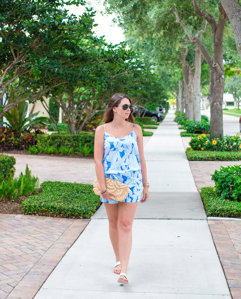 Easy summer outfit for hot days and cool nights with Lilly Pulitzer.