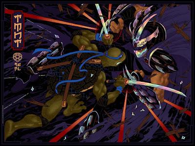 "Teenage Mutant Ninja Turtles ""Leo vs. Shredder"" Screen Print by Peter Diamond x Bottleneck Gallery"
